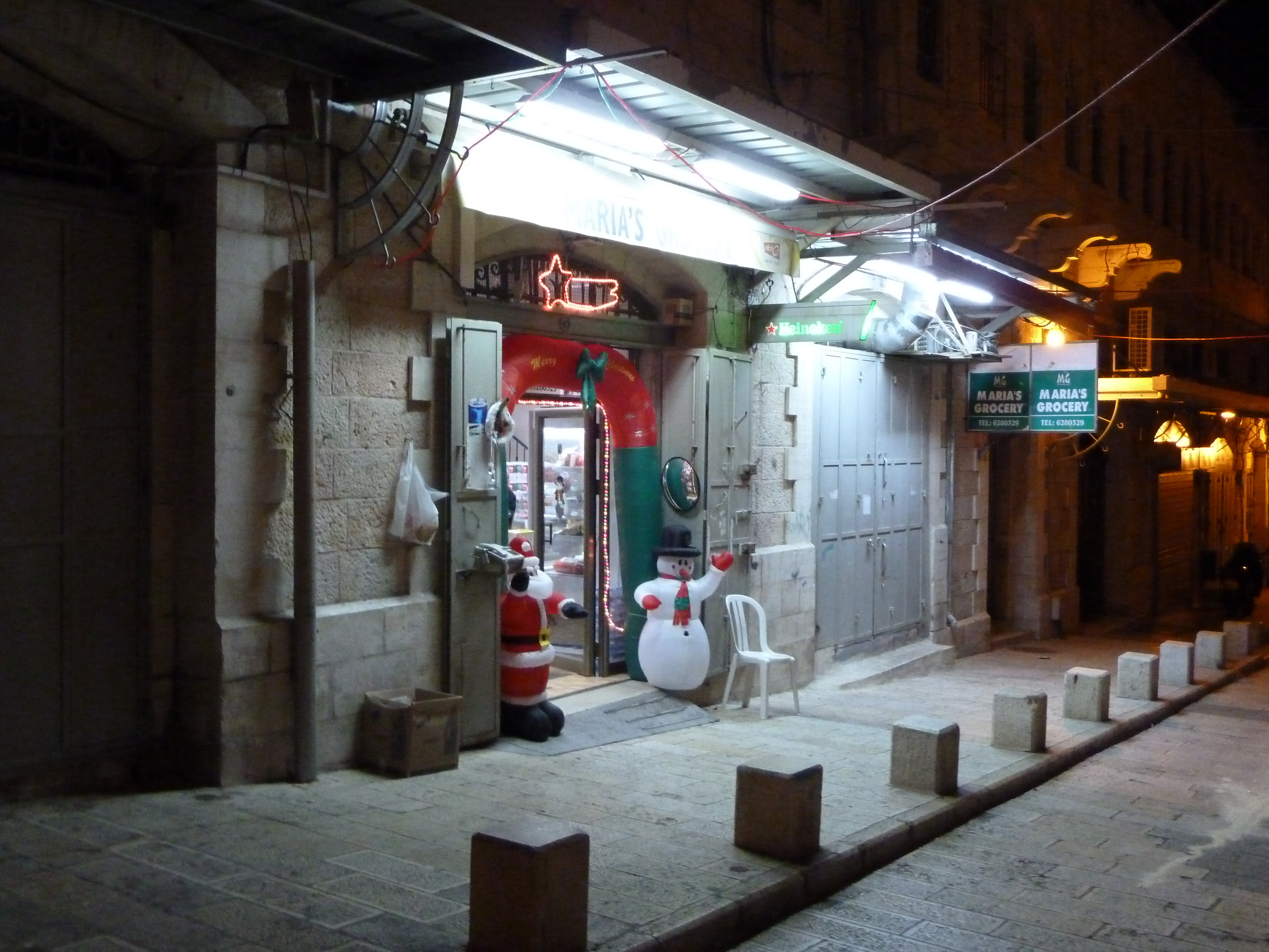 File:Old Jerusalem Christmas decorations Inflatable Santa Claus ...