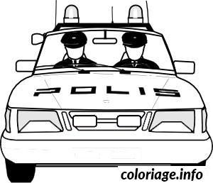 Coloriage Dessin Voiture Police Jecoloriecom