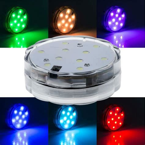 led multi color waterproof submersible party light