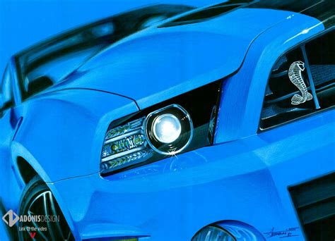 ford mustang shelby gt drawing  adonis alcici