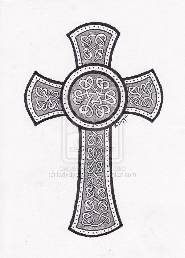 Nice Celtic Cross Tattoo Design On Paper Tattoomagz