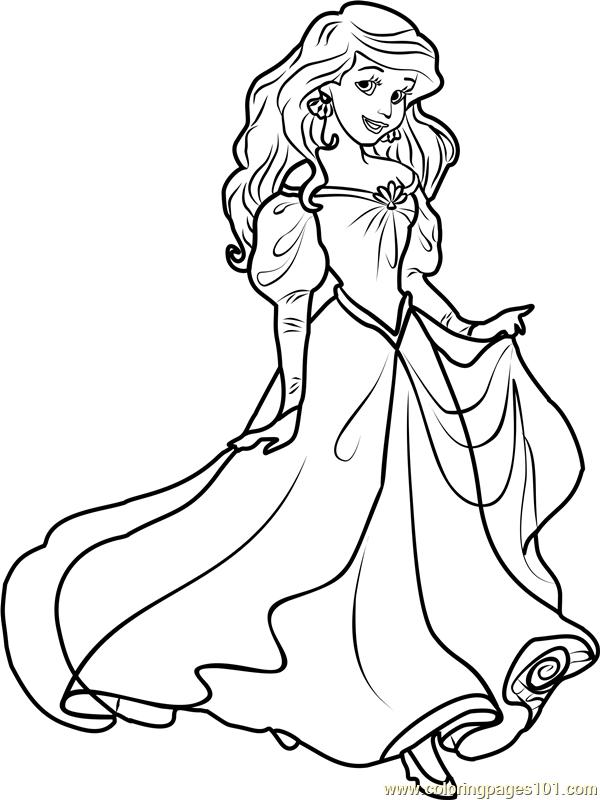 Princess Ariel Coloring Page - Free Disney Princesses ...