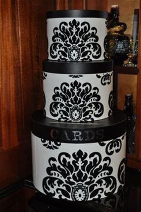 hat boxes from Hobby Lobby stacked to make a decorative