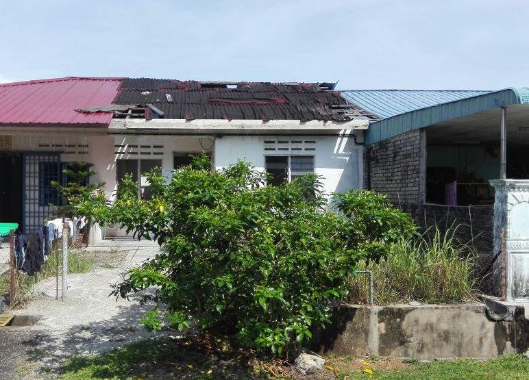 Auction Rumah Teres Kos Rendah Satu Tingkat unit tengah