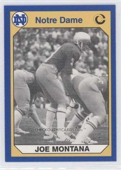 1990 Notre Dame JOE MONTANA College Card No 170 Hall of Fame