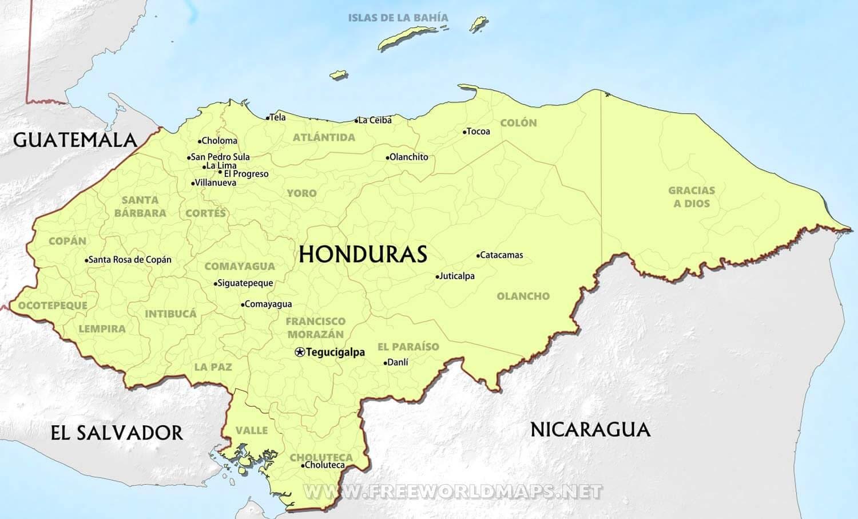 Honduras Maps Freeworldmaps Net