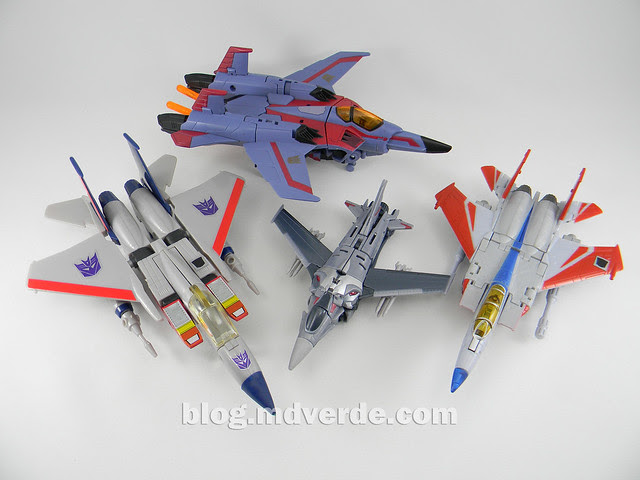 Transformers Starscream Deluxe - Prime First Edition - modo alterno vs otros Starscream