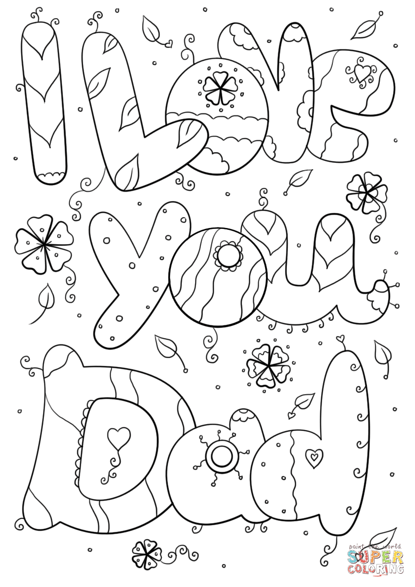 I Love You Dad coloring page | Free Printable Coloring Pages