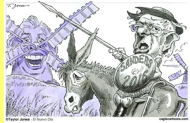 Bernie Sanders, cartoon de Taylor Jones.