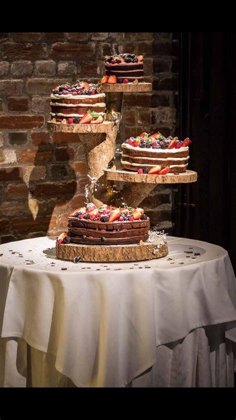 Bespoke rustic wooden cake stand Wedding cake Cake board