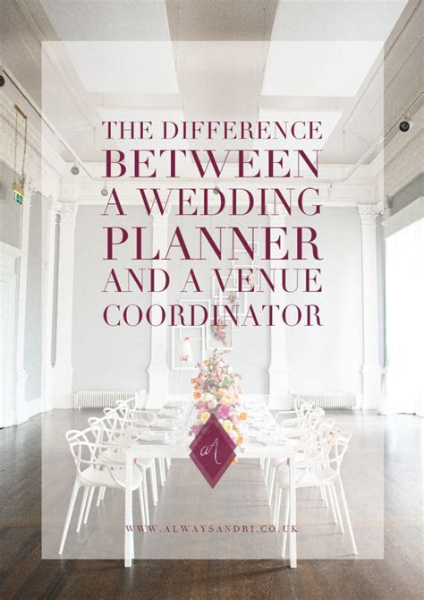 Difference Between a Wedding Planner and a Venue Coordinator