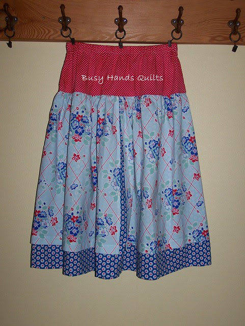 Girls 14/16 Modest Apron Overlay Skirt