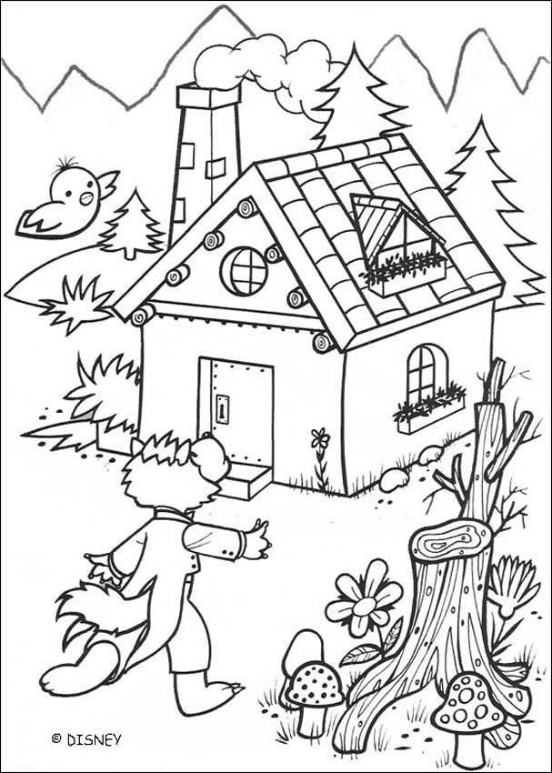 Dibujos Para Colorear Lobo Y La Casa De Ladrillo Eshellokidscom