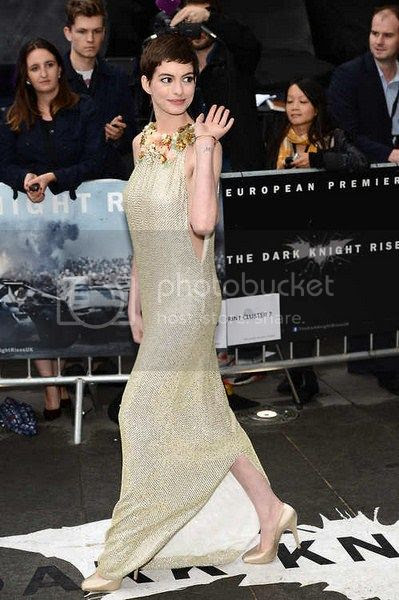 Anne Hathaway Dark Knight Rises London Premiere