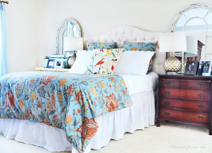 blue and white master bedroom 2