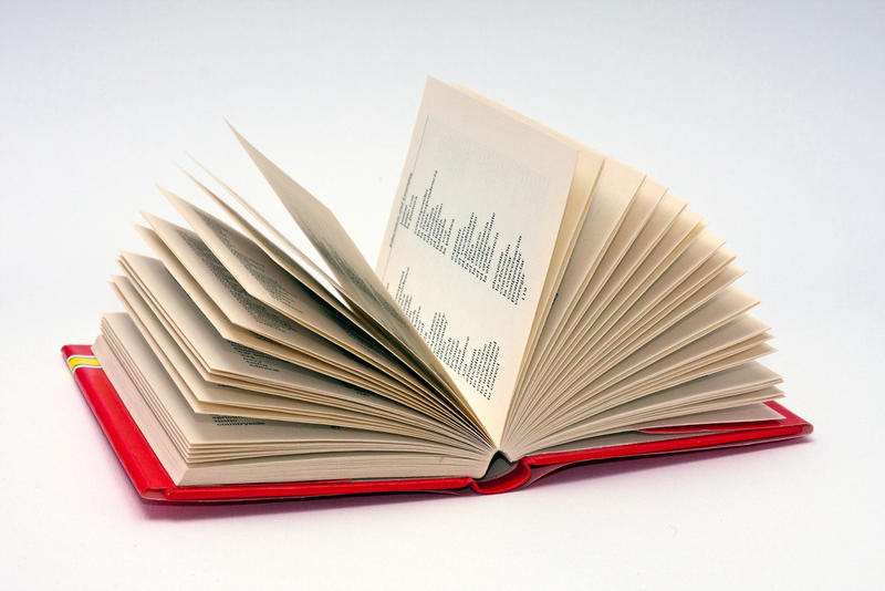 Stock photo of a book