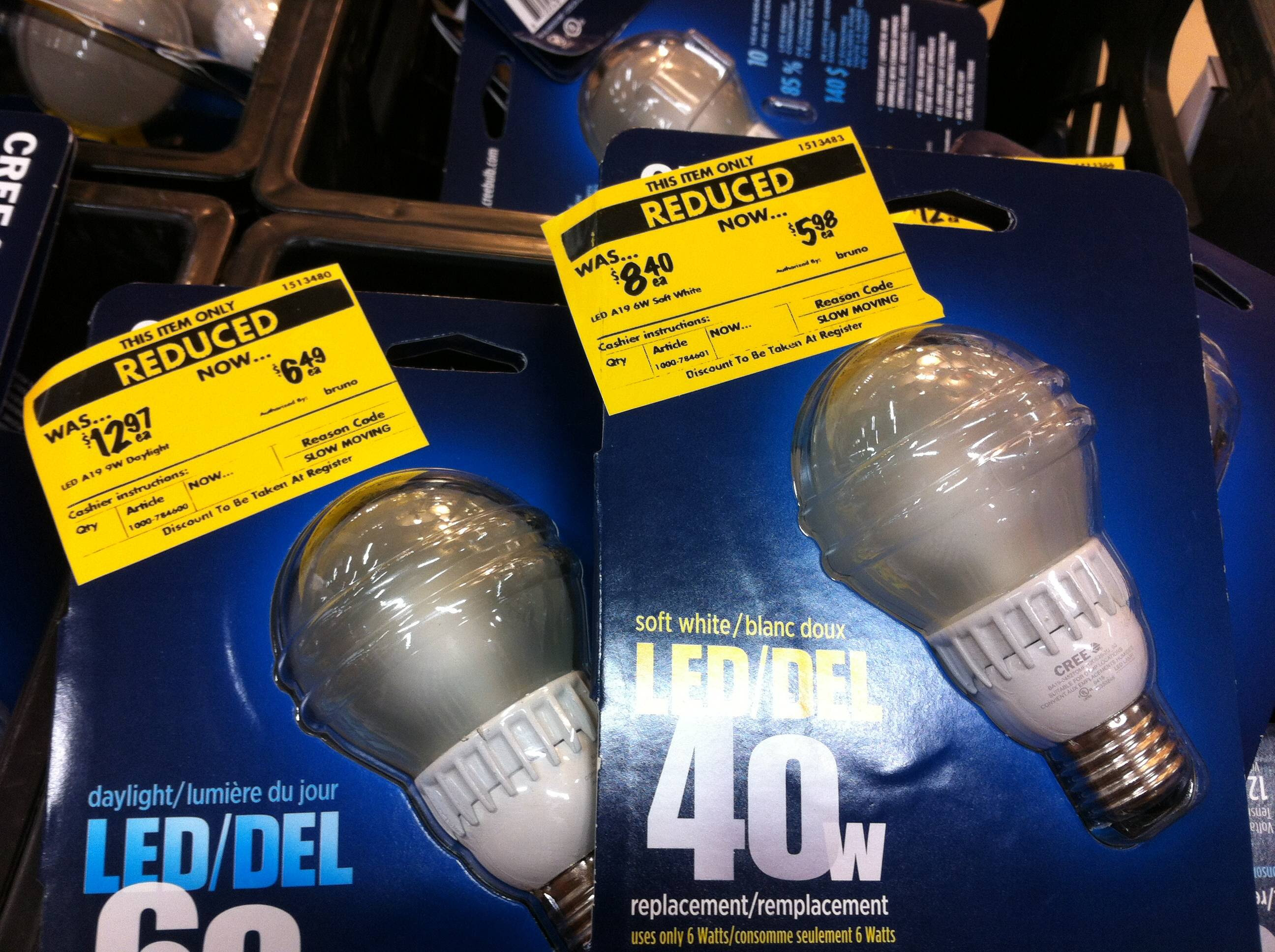 Home Depot] Cree A19 LED bulbs $0 98 $1 49 after energy rebate