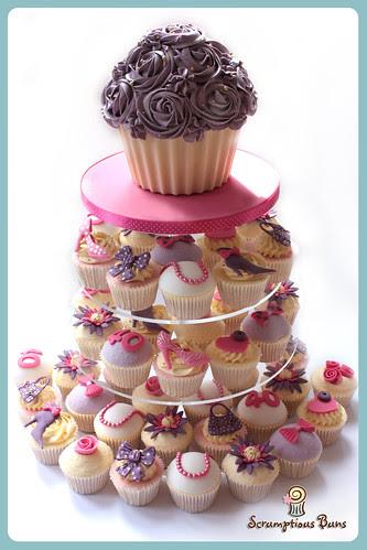 Glam Cupcake Tower by Scrumptious Buns (Samantha)
