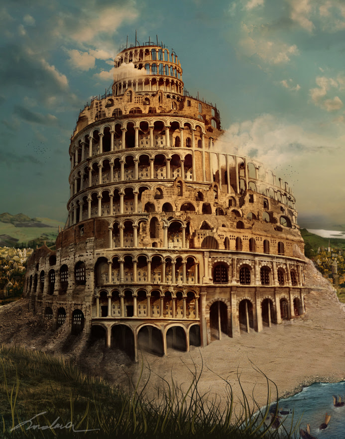 The Babel Tower by Loredana-Papp