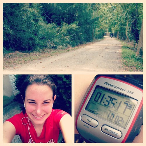 Beautiful morning for a 10 mile run on a trail I haven't run since marathon training/my stress fracture.