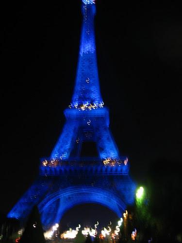 Blue Eiffel Night