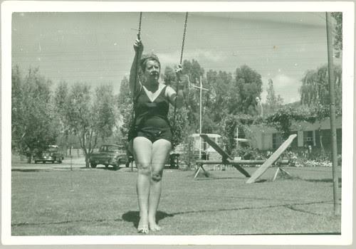 Woman in a swing