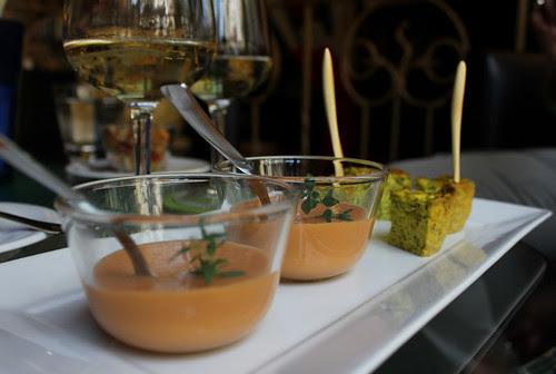 crema di zolfini e quadrotti alle zucchine