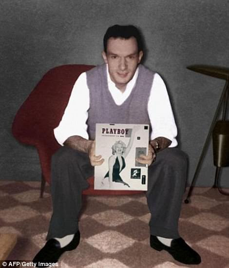 In 1953, Hefner published the first issue of Playboy with Marilyn Monroe featured on its cover