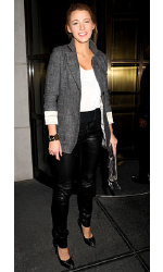 Blake Lively wearing SMYTHE Tweed Slouchy Boyfriend Blazer