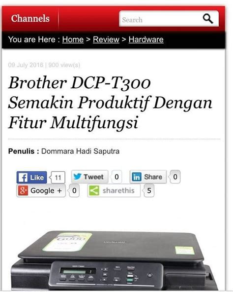 cari printer multifungsi brother dcp  solusinya baca