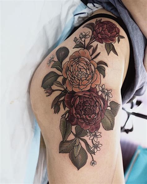 closer flower hip tattoos hip tattoo