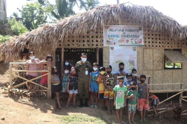 Army Engineers launch Children's Library in Northern Samar