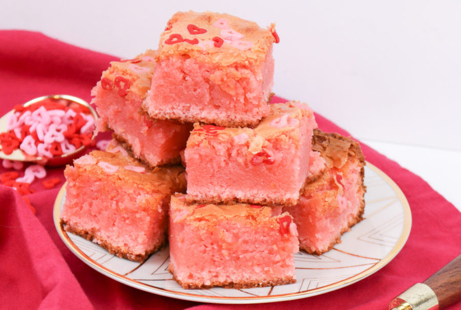 White Chocolate Valentine's Day Blondies