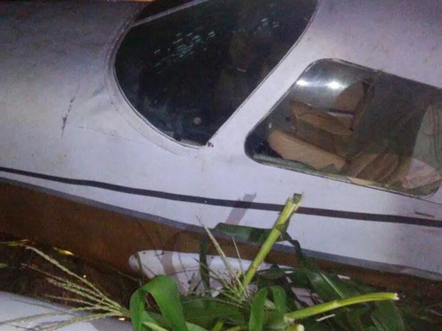 Avião fez 2 pousos forçados em lavouras de Mato Grosso após pane em motor (Foto: Divulgação/PM)