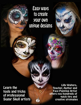 Book Contents Day Of The Dead Face And Body Painting Ideas And