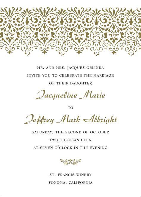 Formal Wedding Invitation Wording   Fotolip.com Rich image