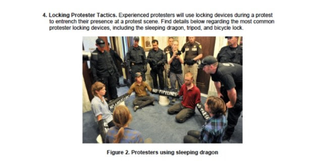 NoDAPL Protest FEMA Sleeping Dragon