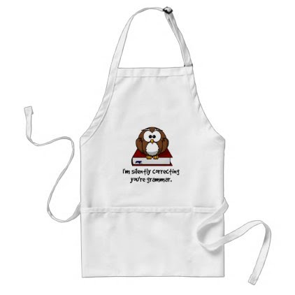 I'm Silently Correcting Your Grammar Wise Owl Adult Apron