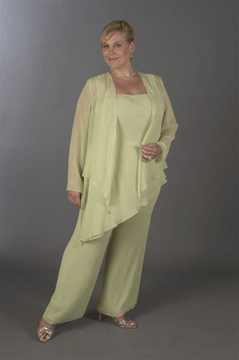 Ursula Plus Size Formal Chiffon Pant Suit 41882   French