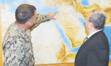Ehud Barak with US Adm. James A. Winnefeld