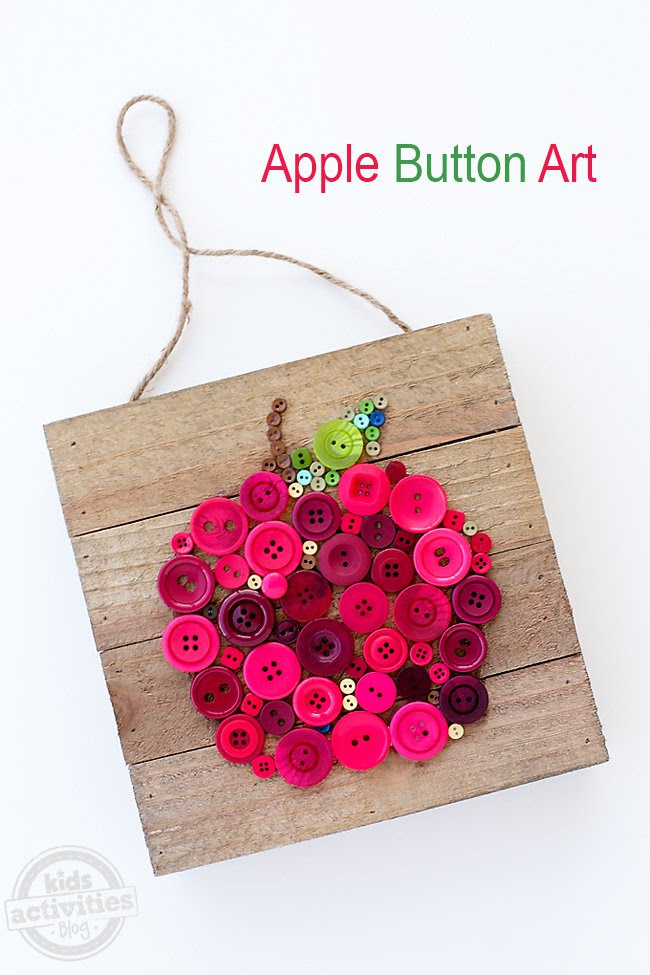 Apple Button Art