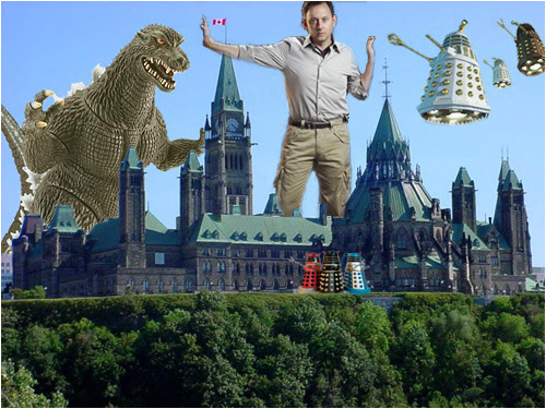 Benjamin Linus, with the help of Daleks and Godzilla, takes over Canada