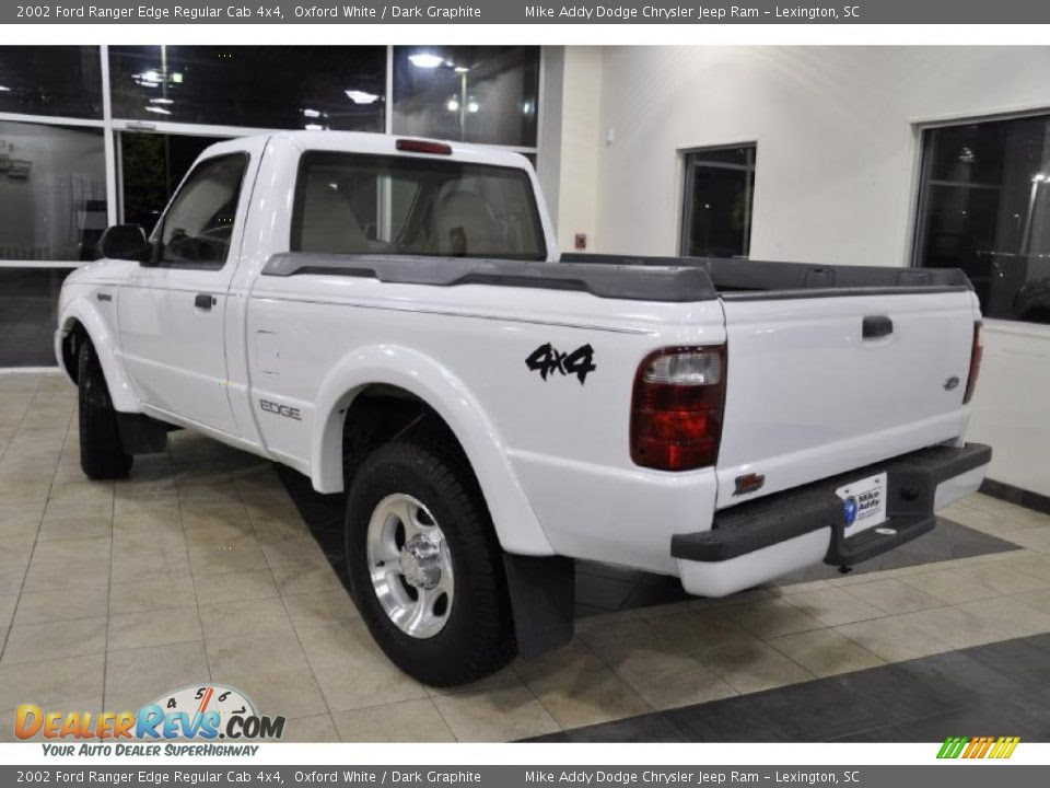 2002 Ford Ranger Edge Regular Cab 4x4 Oxford White / Dark Graphite ...