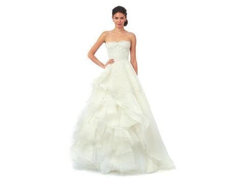 Oscar de la Renta Brynn 55N68 Wedding Dress   Sample, Size