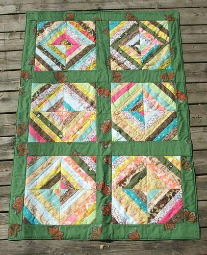 scrappy strip quilt