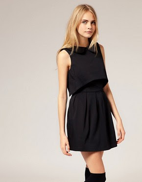 Image 1 of ASOS Peterpan Collar Open Back Dress