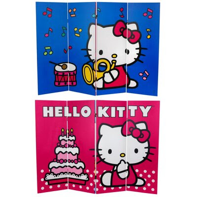 Oriental Furniture Tall Double Sided Hello Kitty Birthday Cake ...