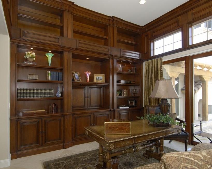pareti libreria classica