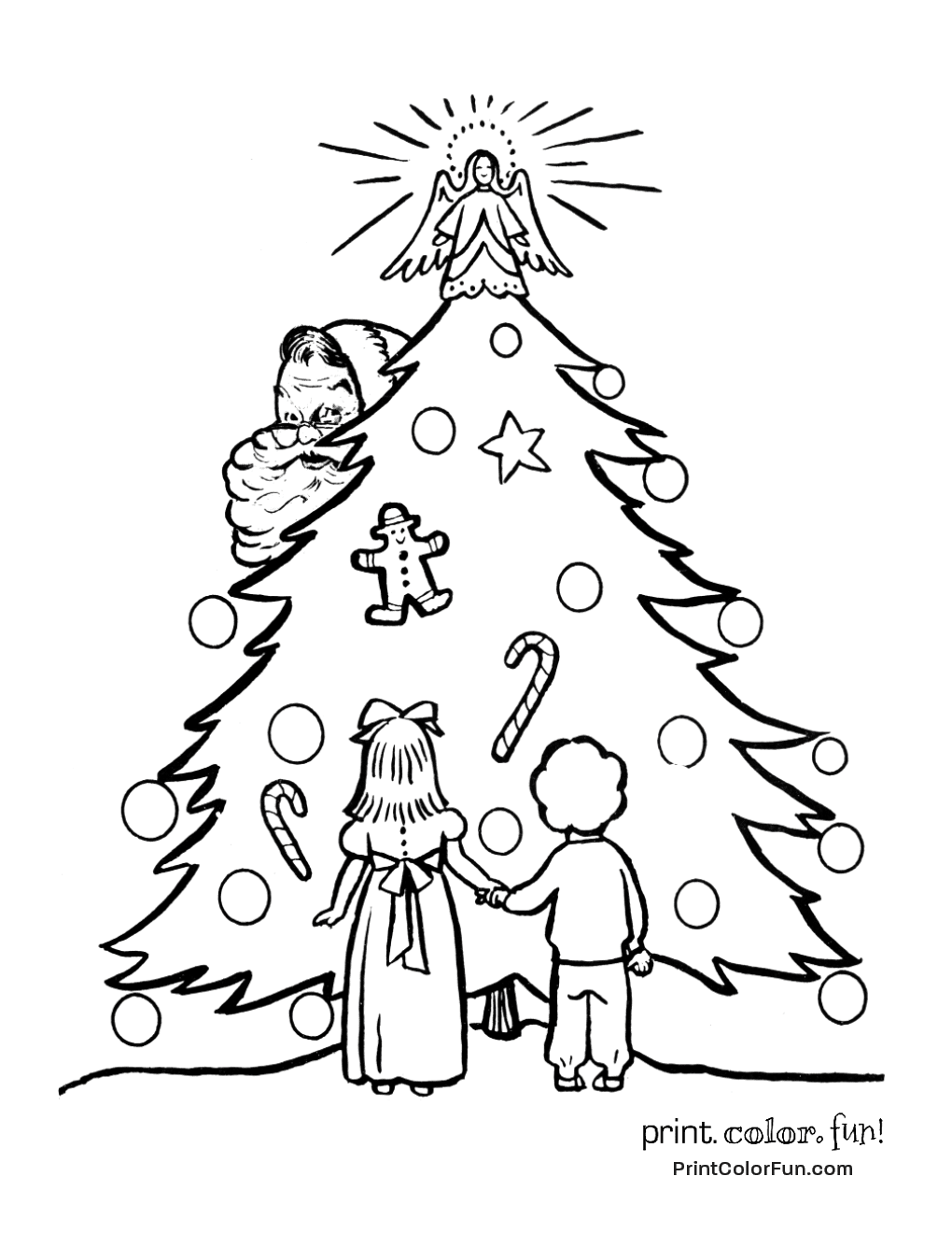 Old Fashioned Christmas Coloring Pages at GetColorings.com ...