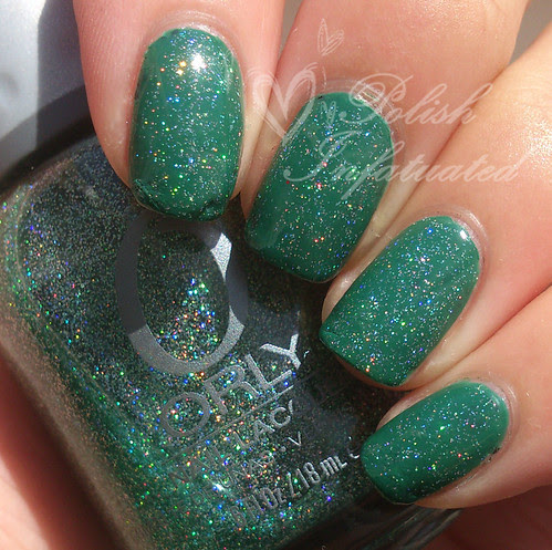 jade is the new black layered with sparkling garbage